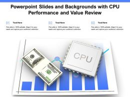 Powerpoint Slides And Backgrounds With CPU Performance And Value Review