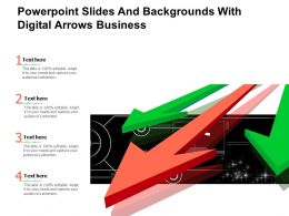 Powerpoint Slides And Backgrounds With Digital Arrows Business