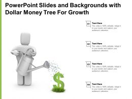 Powerpoint Slides And Backgrounds With Dollar Money Tree For Growth