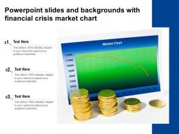 Powerpoint Slides And Backgrounds With Financial Crisis Market Chart