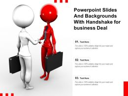 Powerpoint Slides And Backgrounds With Handshake For Business Deal
