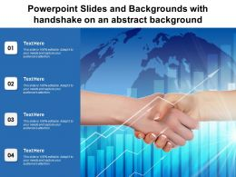 Powerpoint Slides And Backgrounds With Handshake On An Abstract Background