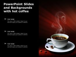 Powerpoint Slides And Backgrounds With Hot Coffee