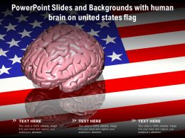 Powerpoint Slides And Backgrounds With Human Brain On United States Flag