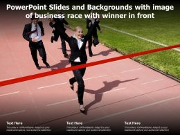 Powerpoint Slides And Backgrounds With Image Of Business Race With Winner In Front