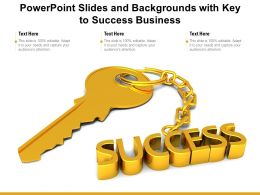 Powerpoint Slides And Backgrounds With Key To Success Business