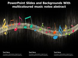 Powerpoint Slides And Backgrounds With Multicoloured Music Notes Abstract