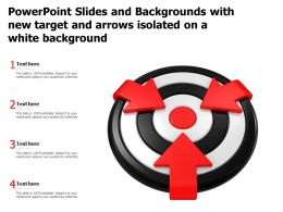 Powerpoint Slides And Backgrounds With New Target And Arrows Isolated On A White Background