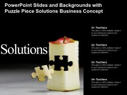 Powerpoint Slides And Backgrounds With Puzzle Piece Solutions Business Concept