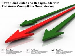 Powerpoint Slides And Backgrounds With Red Arrow Competition Green Arrows