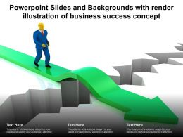 Powerpoint Slides And Backgrounds With Render Illustration Of Business Success Concept
