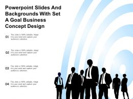 Powerpoint Slides And Backgrounds With Set A Goal Business Concept Design