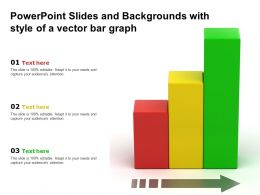 Powerpoint Slides And Backgrounds With Style Of A Vector Bar Graph