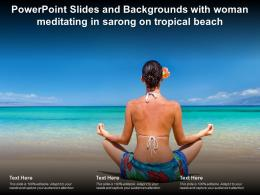 Powerpoint Slides And Backgrounds With Woman Meditating In Sarong On Tropical Beach