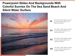 Powerpoint Slides And With Colorful Sunrise On The Sea Sand Beach Silent Water Surface