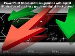 Powerpoint Slides Backgrounds With Digital Illustration Of Business Graph On Digital Background