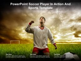 Powerpoint Soccer Player In Action And Sports Template
