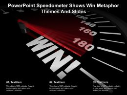 Powerpoint Speedometer Shows Win Metaphor Themes And Slides