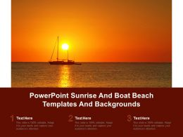 Powerpoint Sunrise And Boat Beach Templates And Backgrounds