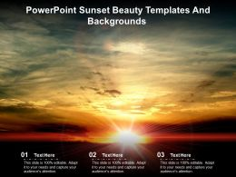 Powerpoint Sunset Beauty Templates And Backgrounds