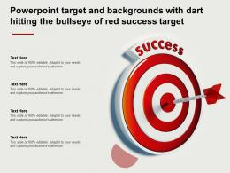 Powerpoint Target And Backgrounds With Dart Hitting The Bullseye Of Red Success Target