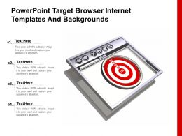 Powerpoint Target Browser Internet Templates And Backgrounds