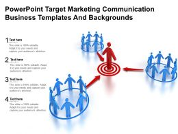 Powerpoint Target Marketing Communication Business Templates And Backgrounds