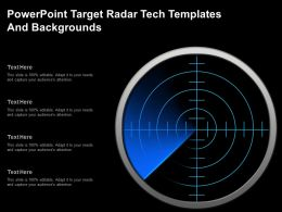 Powerpoint Target Radar Tech Templates And Backgrounds
