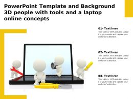 Powerpoint Template And Background 3d People With Tools And A Laptop Online Concepts