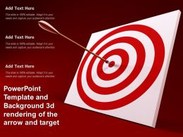 Powerpoint Template And Background 3d Rendering Of The Arrow And Target