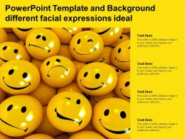 Powerpoint Template And Background Different Facial Expressions Ideal