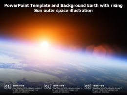 Powerpoint Template And Background Earth With Rising Sun Outer Space Illustration
