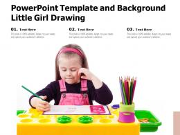 Powerpoint Template And Background Little Girl Drawing