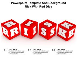 Powerpoint Template And Background Risk With Red Dice