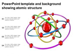 Powerpoint Template And Background Showing Atomic Structure