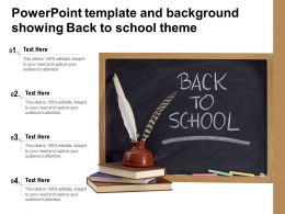 Powerpoint Template And Background Showing Back To School Theme
