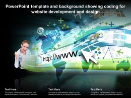 Powerpoint Template And Background Showing Coding For Website Development And Design