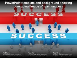 Powerpoint Template And Background Showing Conceptual Image Of Team Success