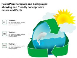 Powerpoint Template And Background Showing Eco Friendly Concept Save Nature And Earth