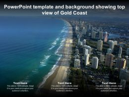 Powerpoint Template And Background Showing Top View Of Gold Coast