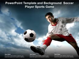 Powerpoint Template And Background Soccer Player Sports Game