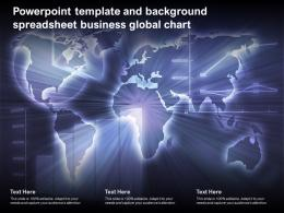 Powerpoint Template And Background Spreadsheet Business Global Chart