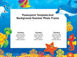 Powerpoint Template And Background Summer Photo Frame