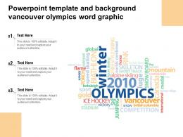 Powerpoint Template And Background Vancouver Olympics Word Graphic