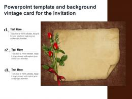 Powerpoint Template And Background Vintage Card For The Invitation