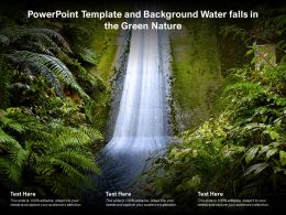 Powerpoint Template And Background Water Falls In The Green Nature