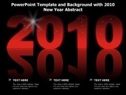 Powerpoint Template And Background With 2010 New Year Abstract