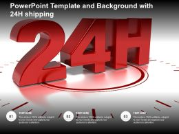 Powerpoint Template And Background With 24h Shipping