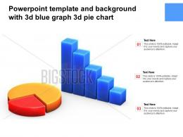 Powerpoint Template And Background With 3d Blue Graph 3d Pie Chart