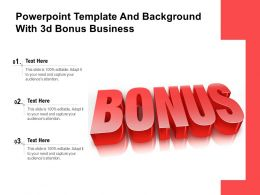 Powerpoint Template And Background With 3d Bonus Business